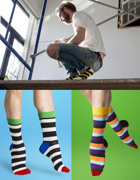 pas mal d6650 250ee Chaussettes rayées colorées Happy Socks homme ou femme
